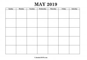 May 2019 Blank Planner