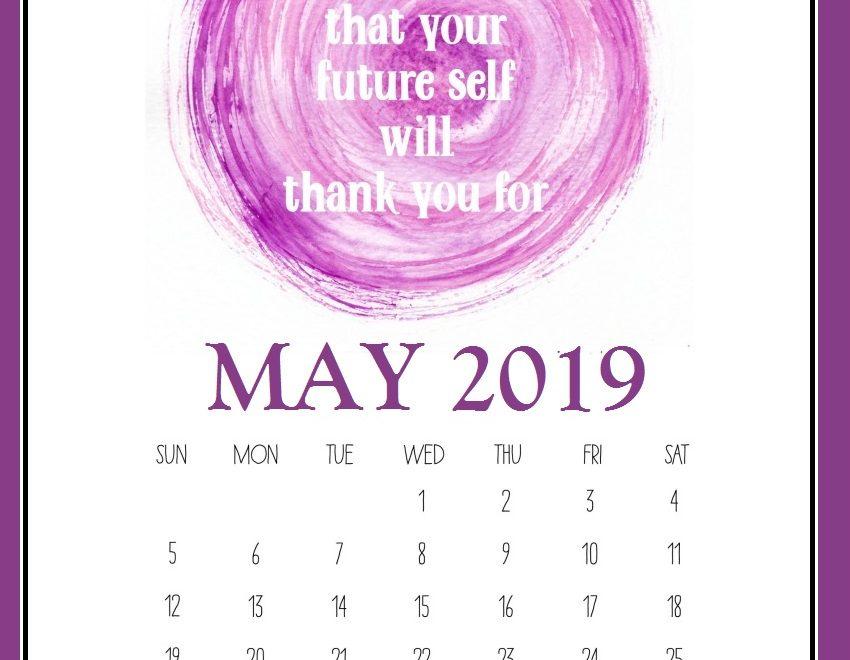 Motivational May 2019 Office Wall Calendar
