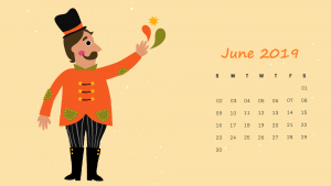 2019 June HD Calendar Design