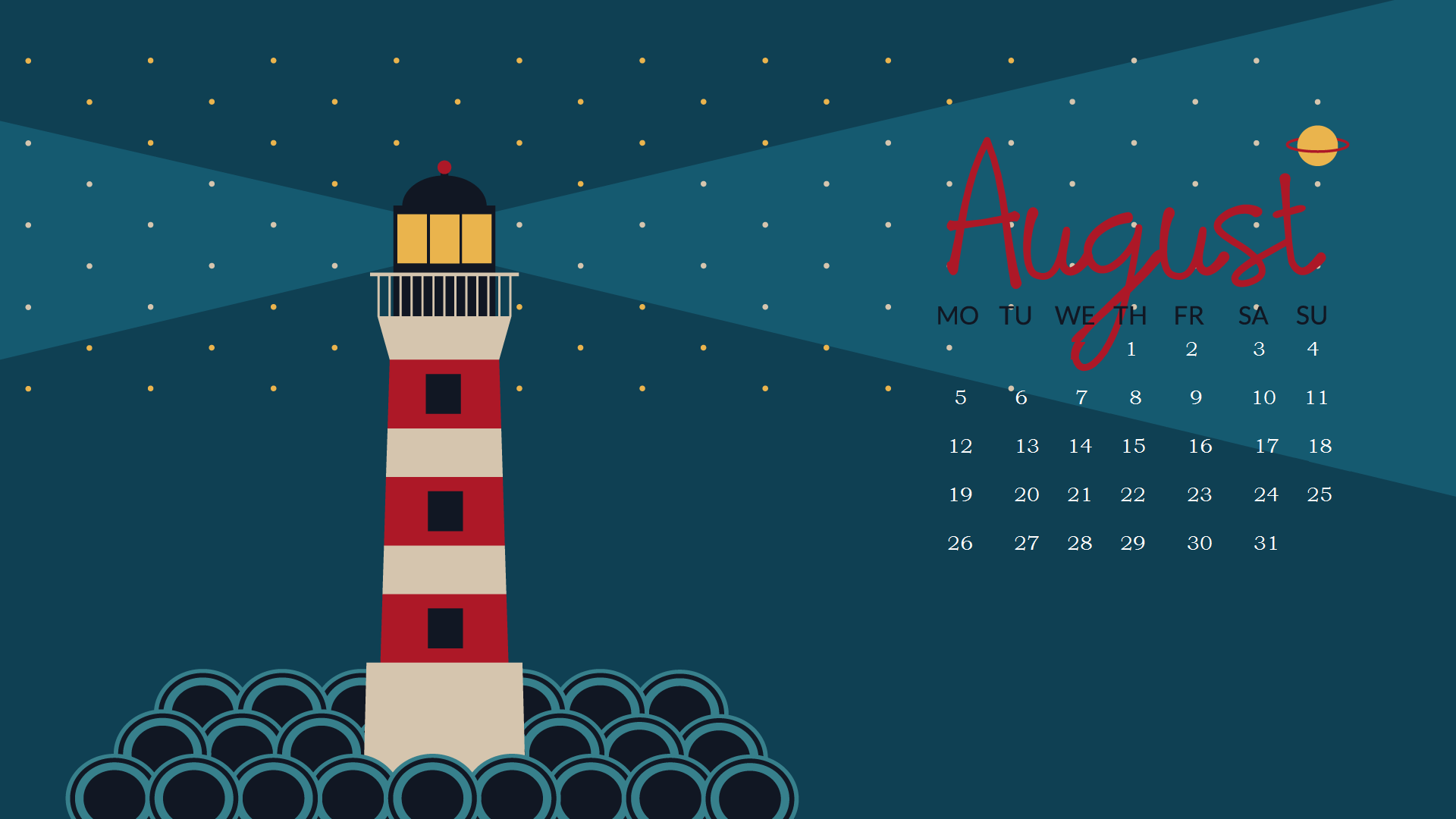 August 2019 HD Wallpaper With Calendar