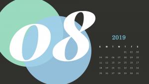 Best August Calendar 2019 Design