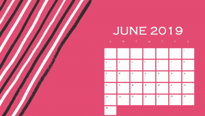 Best June 2019 Calendar Design