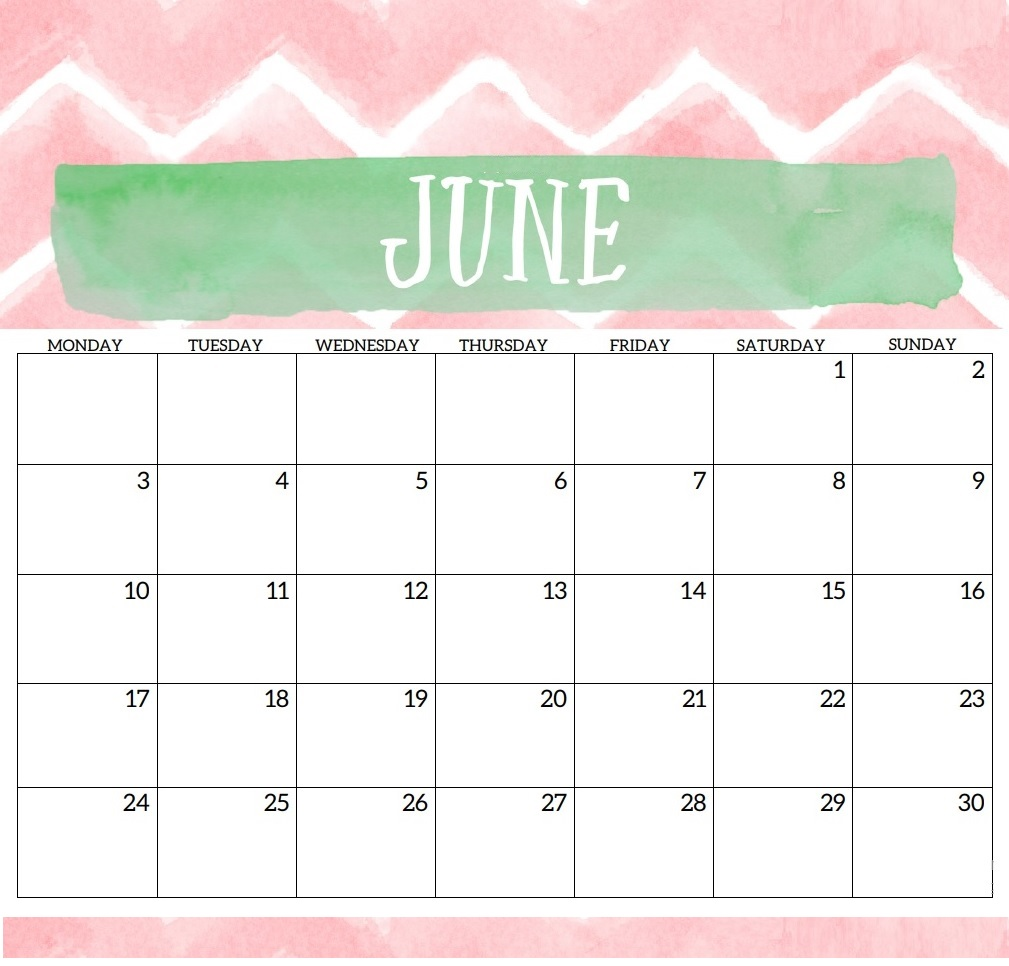 Best June 2019 Desk Calendar