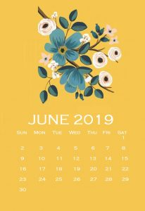 Cute June 2019 Calendar For Wall