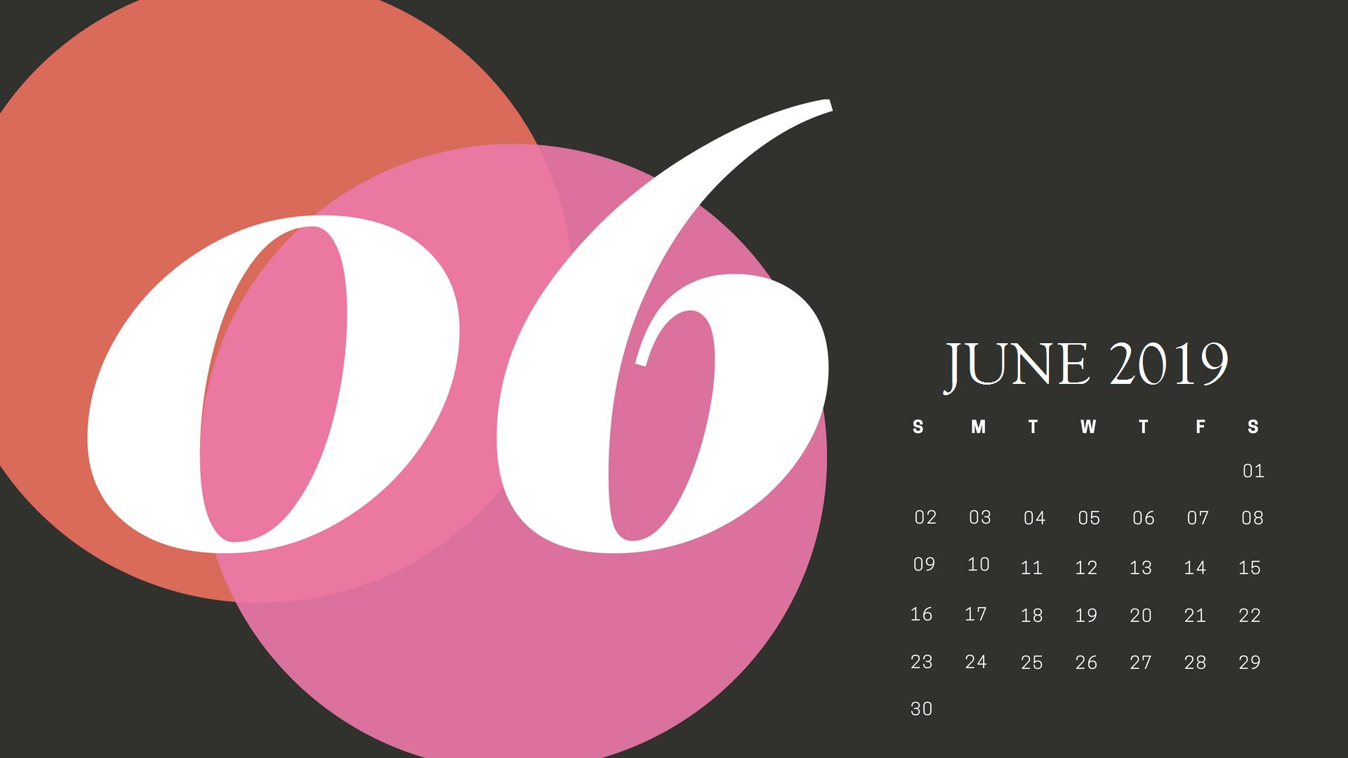 Cute June 2019 Calendar Printable