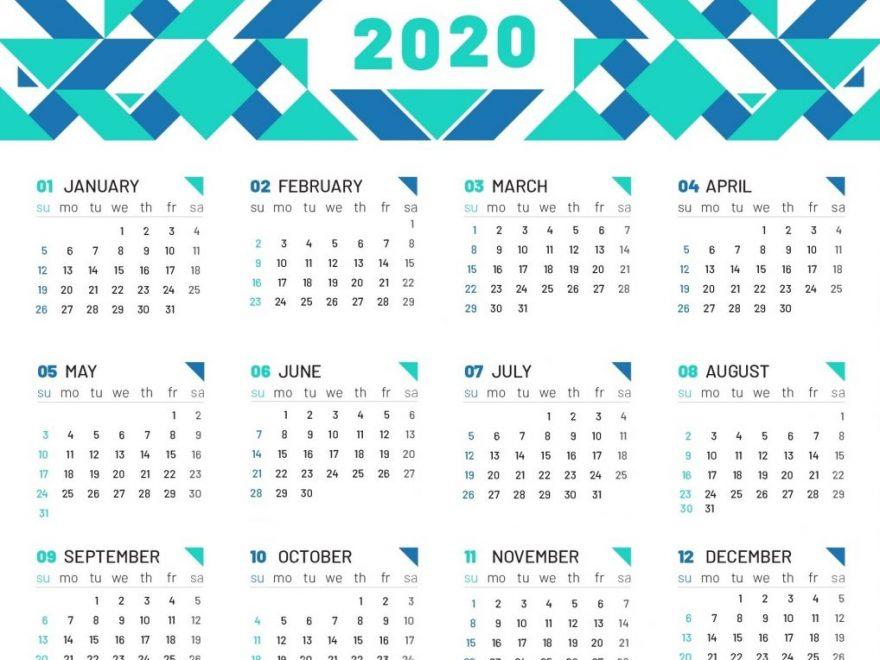 Cute Printable 2020 Calendar