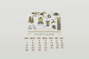 Decorative July 2019 Wall Calendar
