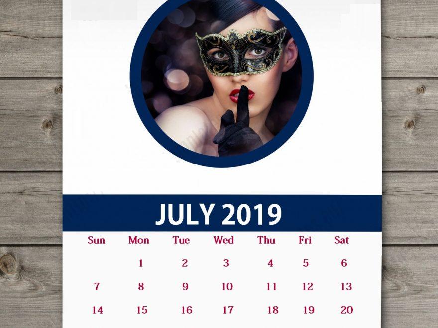 Download July 2019 Wall Calendar
