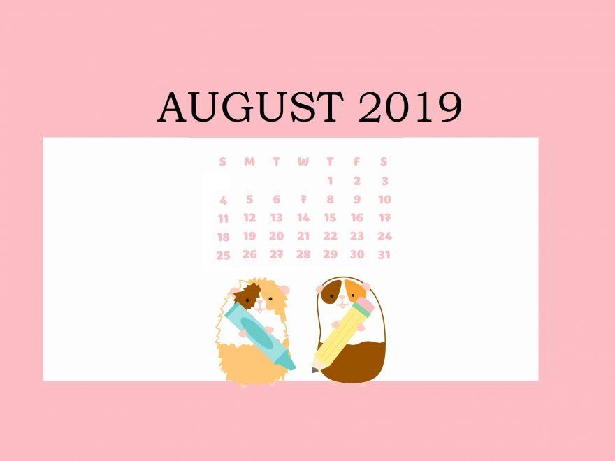Free August 2019 Calendar Wallpaper