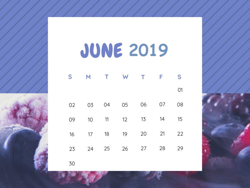 Free June 2019 Calendar Design