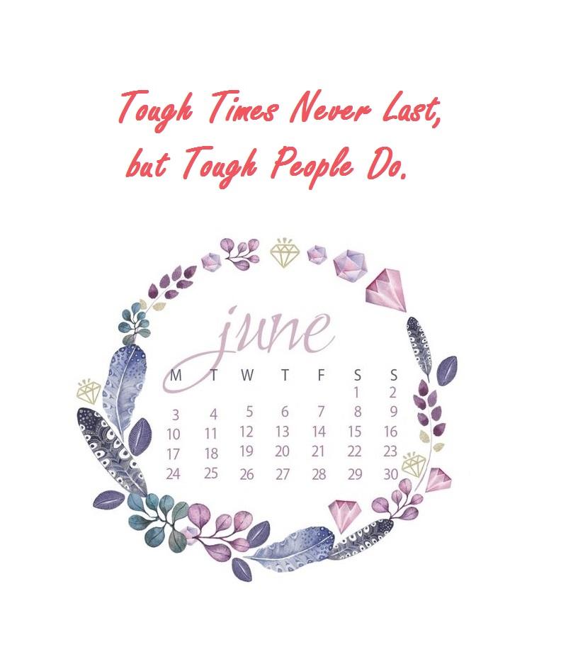 Inspiring June 2019 Wall Calendar