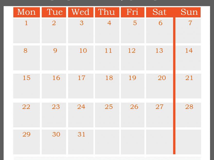 July 2019 Office Desk Calendar