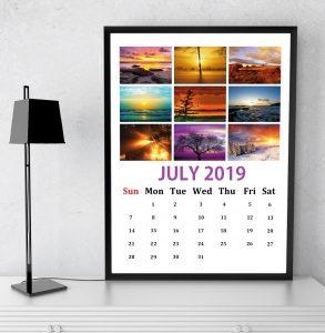July 2019 Wall Calendar Design