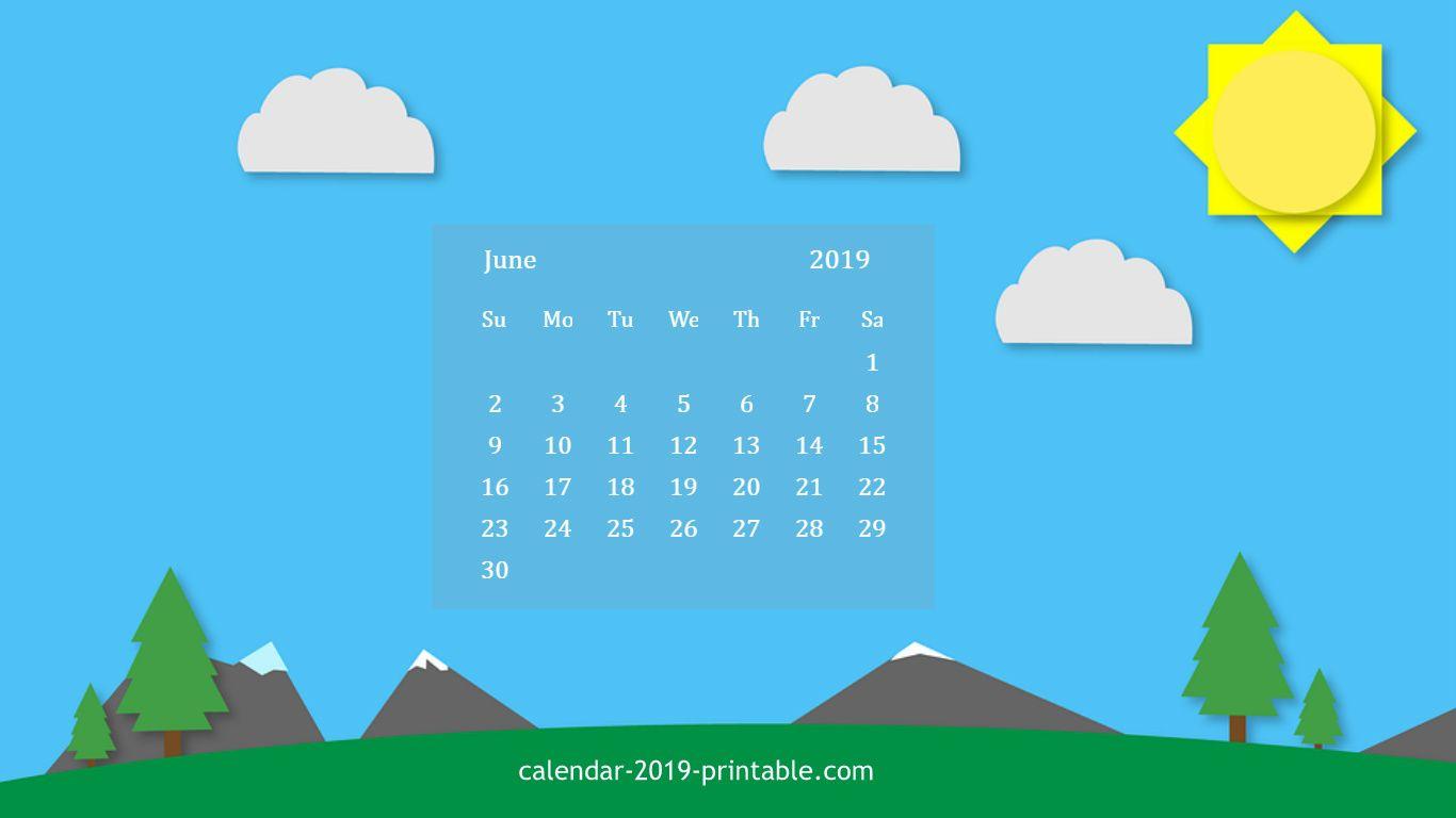 June 2019 Calendar HD Wallpaper