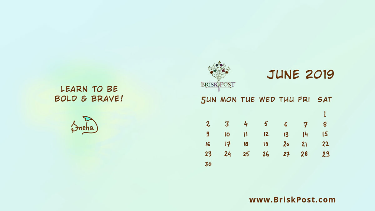 June 2019 Calendar Wallpaper Desktop