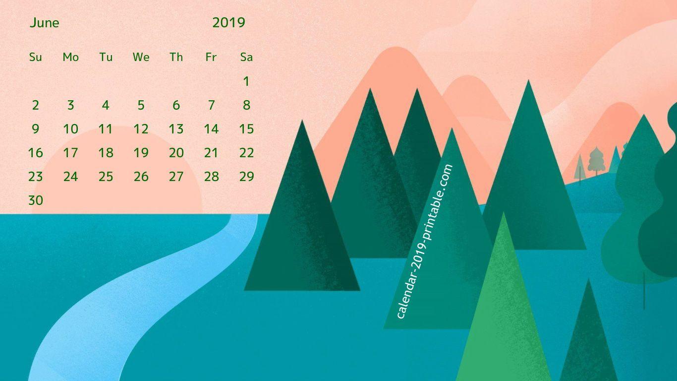 June 2019 Desktop Calendar