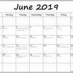 June 2019 Federal Holidays Calendar