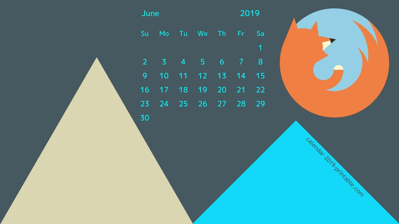 June 2019 Stylish Calendar Wallpaper