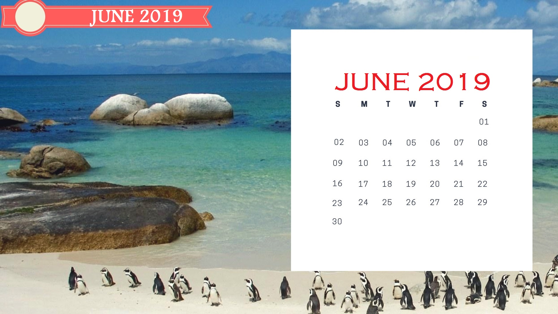 June 2019 Wall Calendar To Print