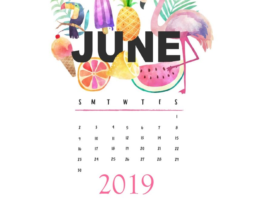 June 2019 Wallpaper Background
