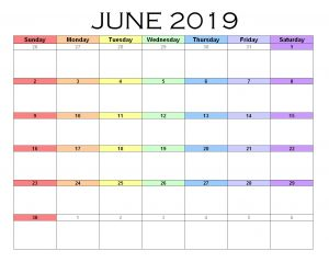June Word Template