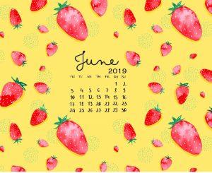 Latest June 2019 Calendar Designs
