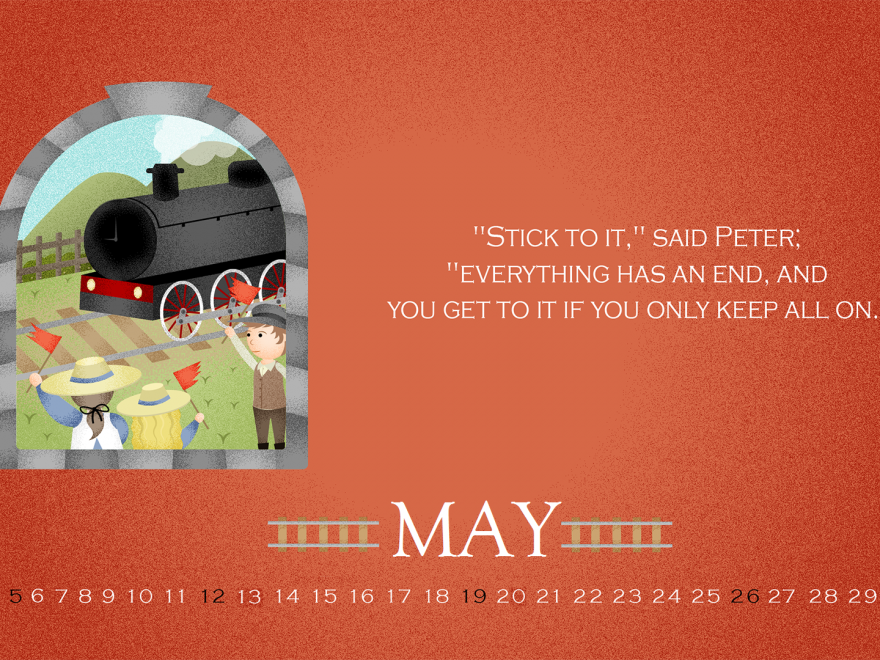 May 2019 Quotes Desktop Calendar