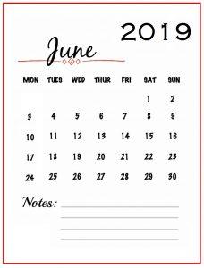 Unique June 2019 Wall Calendar Designs