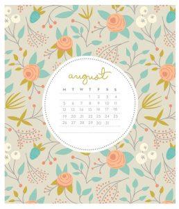 August 2019 Desk Calendar To Print