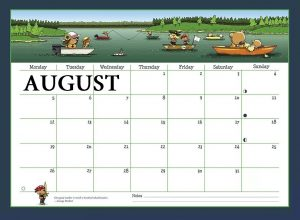 August 2019 Wall Calendar For Kids