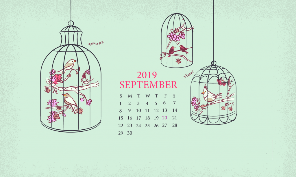 Cute September 2019 Wallpaper Calendar