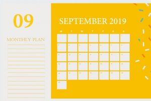 Decorative September 2019 Calendar