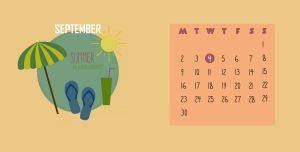 Decorative September 2019 Calendar Wallpaper