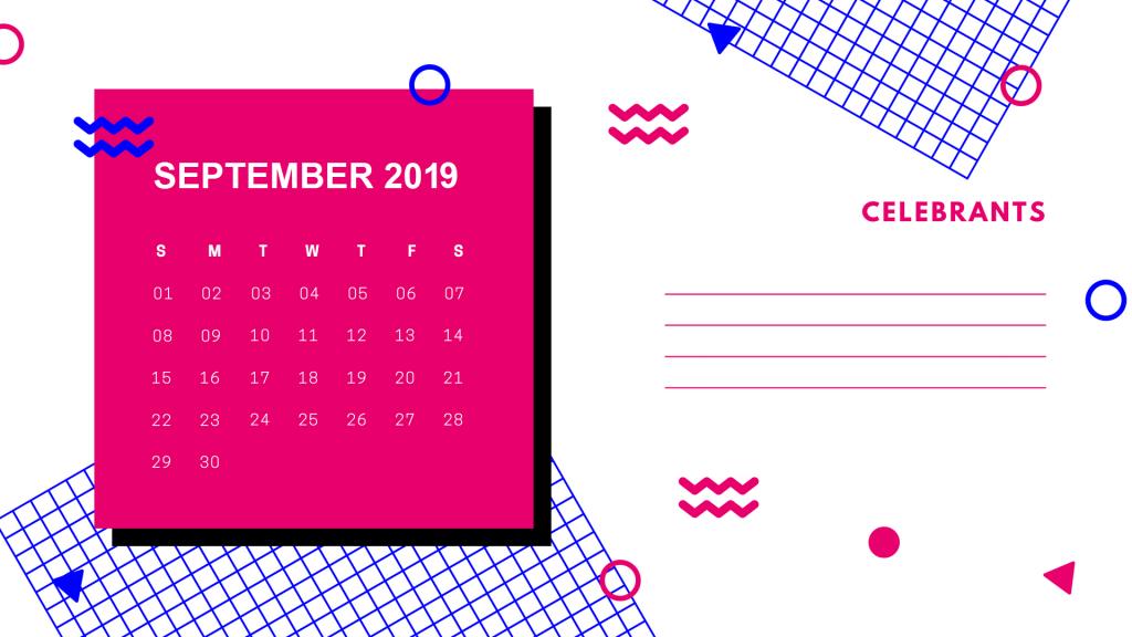 Free Printable 2019 September Calendar