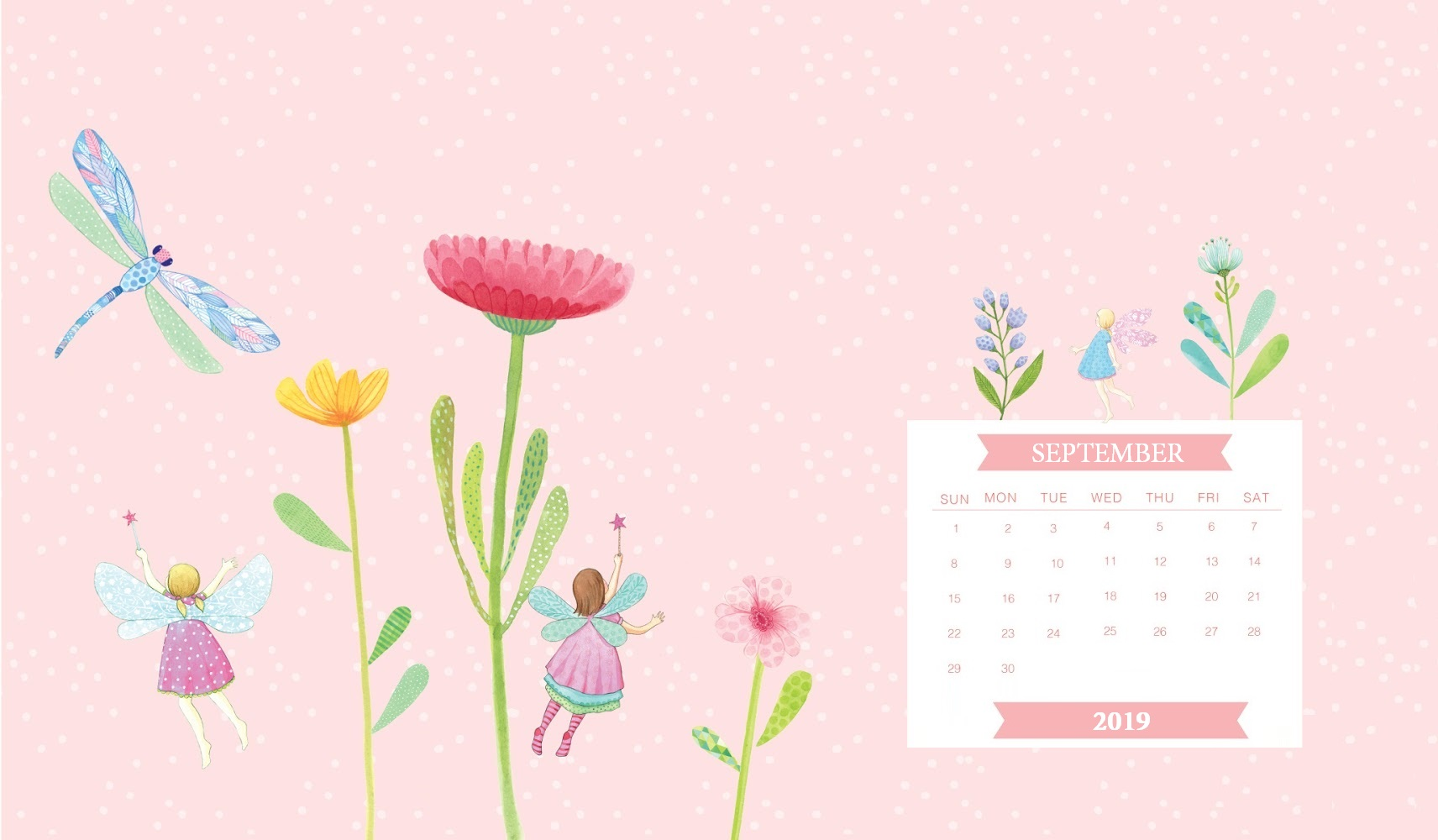 Free September 2019 Calendar Wallpaper