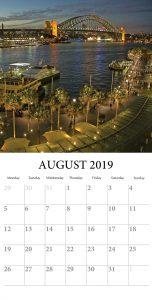Home Wall August 2019 Calendar
