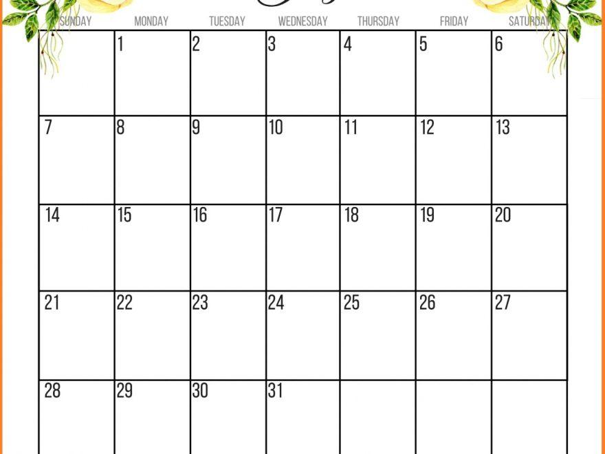 July 2019 HD Calendar