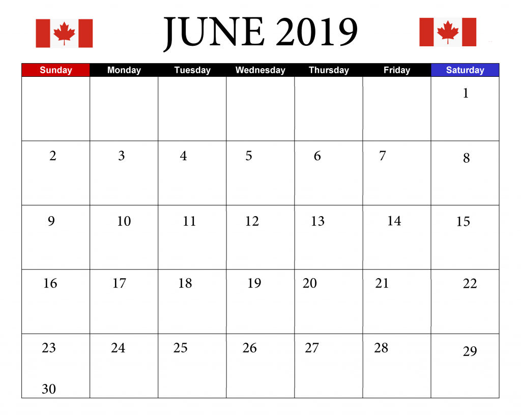 June 2019 Federal Holidays