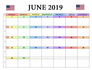 June 2019 USA Holidays