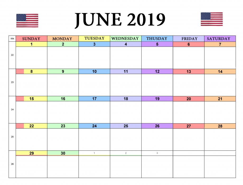 June 2019 USA Holidays