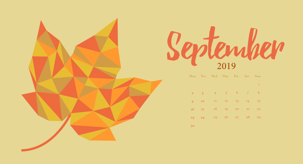 Latest September 2019 Calendar Wallpaper