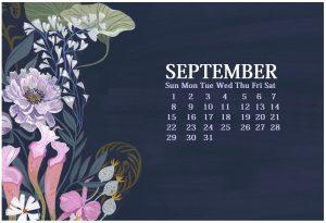 September 2019 HD Calendar Wallpaper