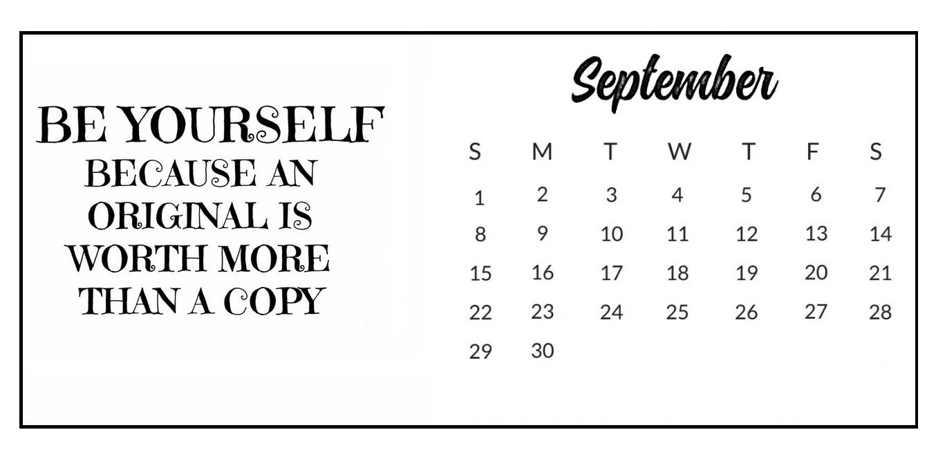 September 2019 Quotes Calendar