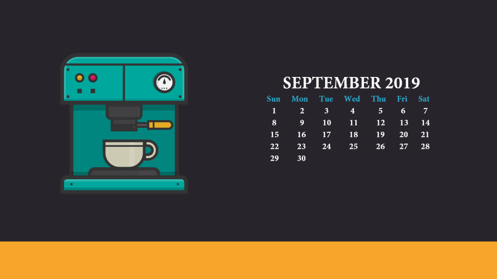 September 2019 Wallpaper With Calendar