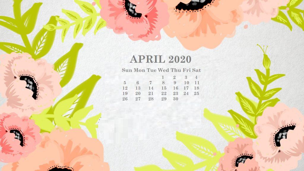 April 2020 Desktop Wallpaper Calendar