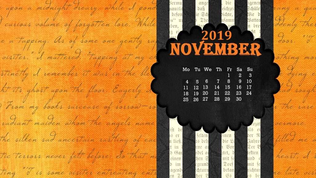 Best November 2019 Wallpaper Calendar