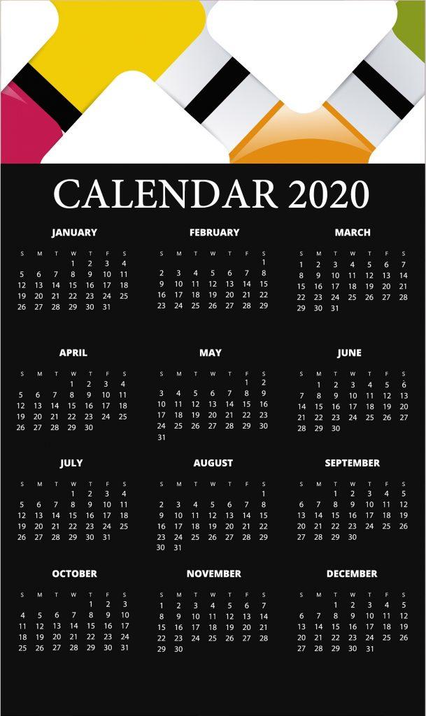 Cute 2020 HD Calendar Wallpaper