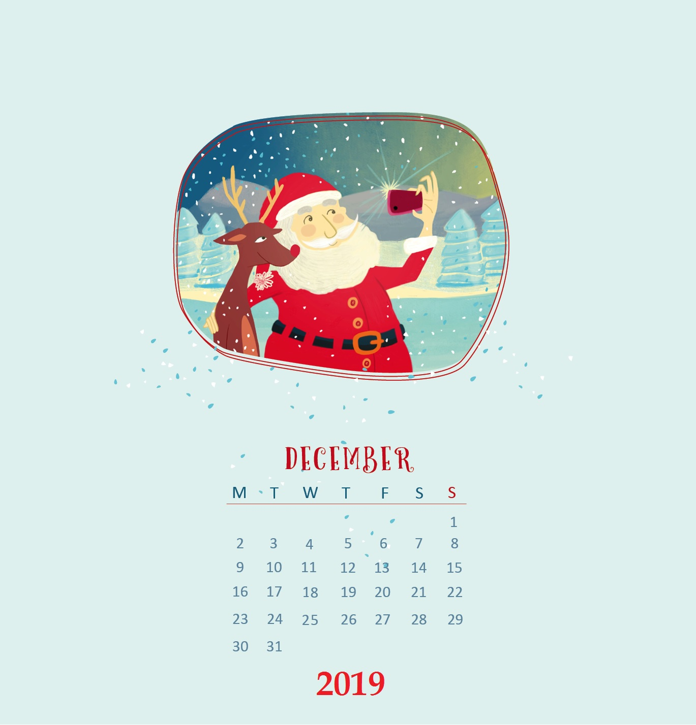 Cute December 2019 iPhone Wallpaper