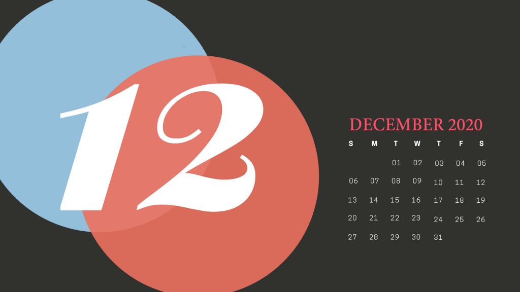 Cute December 2020 Calendar Printable