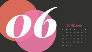 Cute June 2020 Calendar Printable